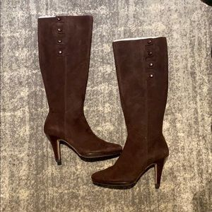 Cole Haan Nike Air Brown Suede Boots size 7